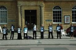 Bristol Rising Tide Protest BP's sponsorship of the National Portrait Awards in 2007